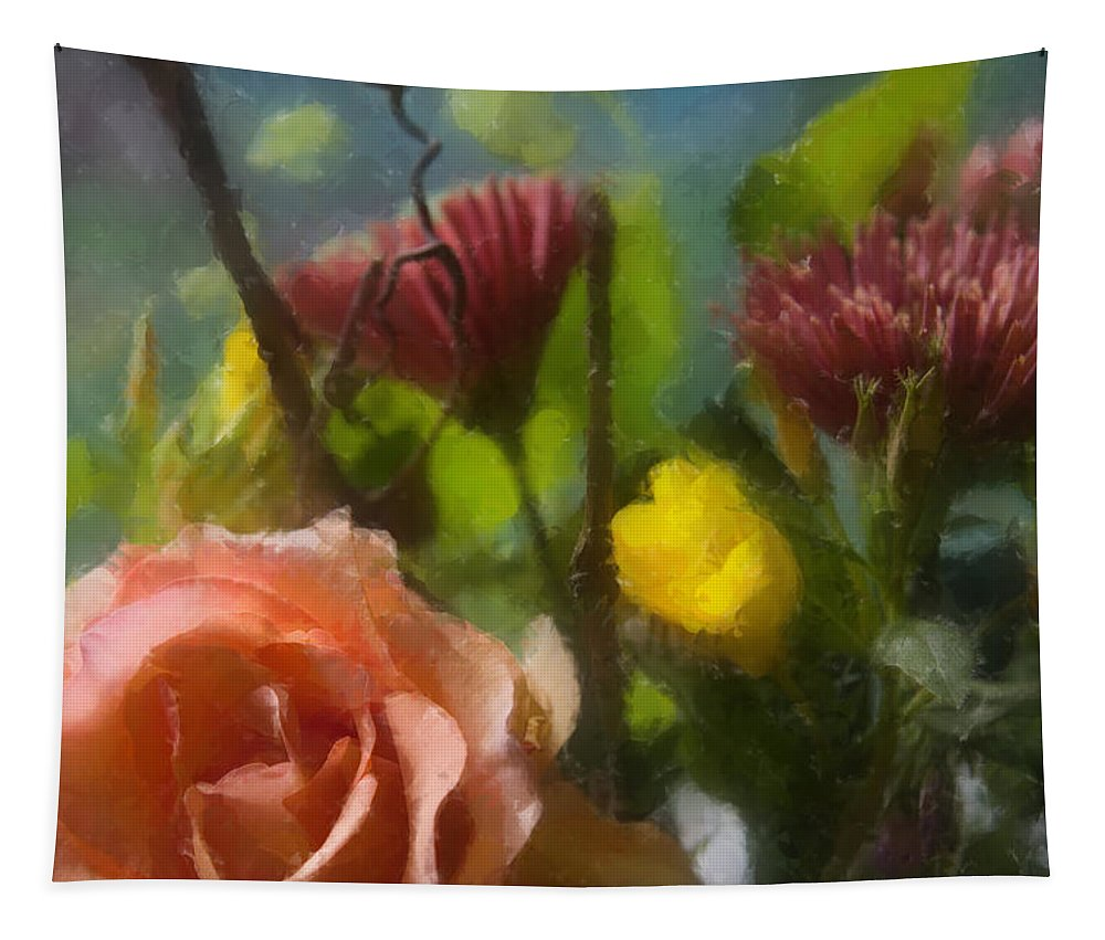 Flowers Tapestry featuring the photograph Through The Window by Dale Kincaid