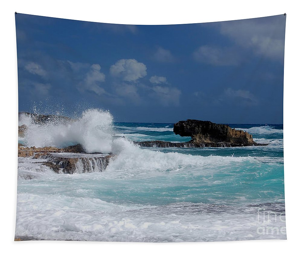 Digital Tapestry featuring the photograph Tidal Crash by Richard Ortolano