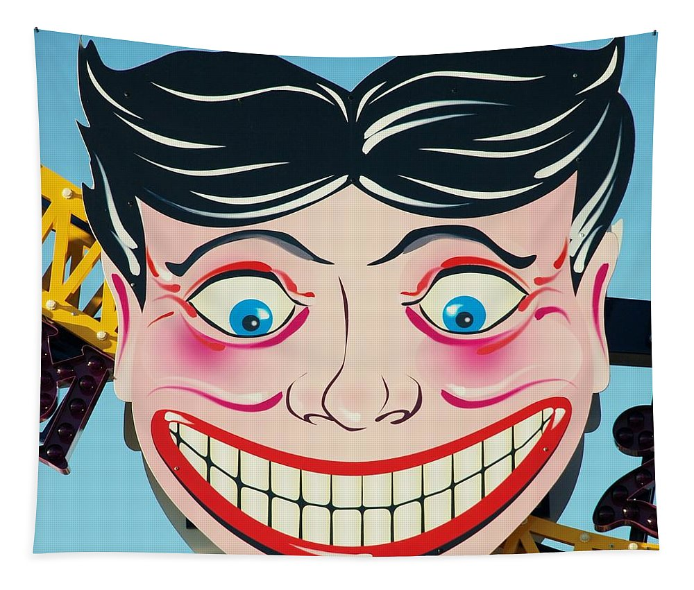 Brooklyn Tapestry featuring the photograph Tillie The Clown Of Coney Island by Rob Hans