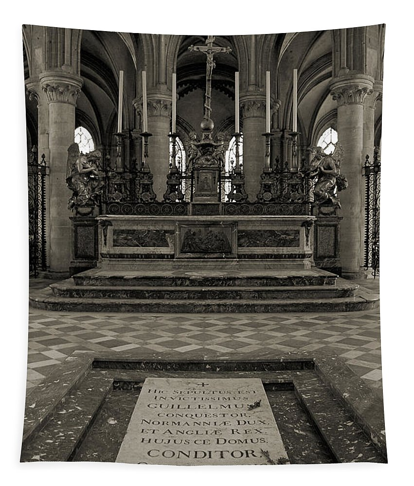 Tomb Tapestry featuring the photograph Tomb Of William The Conqueror by RicardMN Photography
