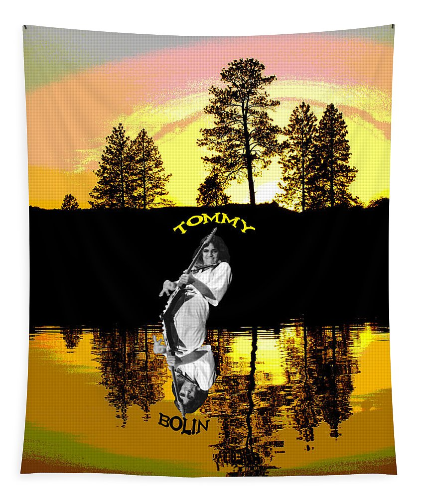 Tommy Bolin Tapestry featuring the photograph Amber Lake #3 by Ben Upham