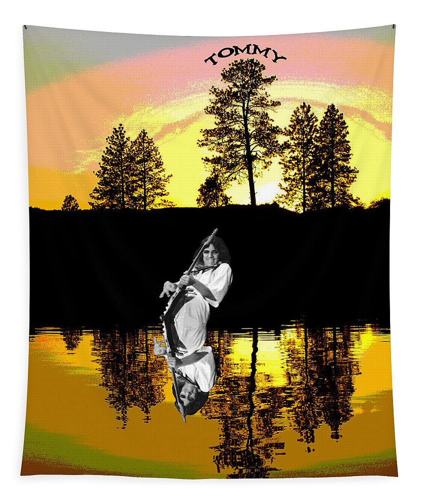 Tommy Bolin Tapestry featuring the photograph Amber Lake #4 by Ben Upham