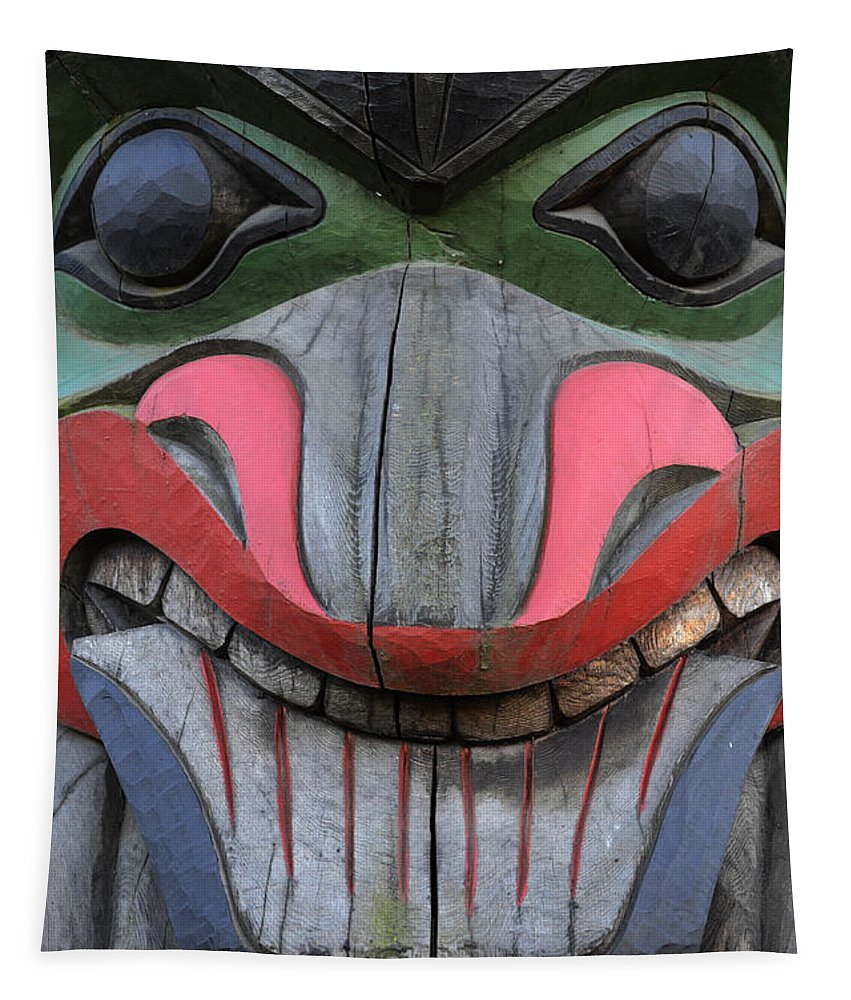 Totem Pole Tapestry featuring the photograph Totem Pole 12 by Bob Christopher