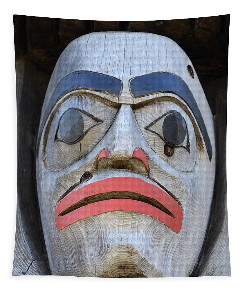 Totem Pole Tapestry featuring the photograph Totem Pole 15 by Bob Christopher