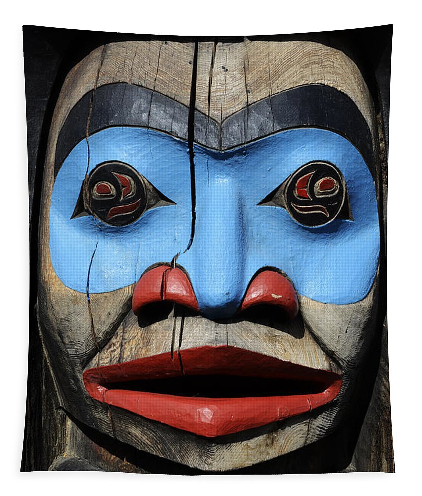 Totem Pole Tapestry featuring the photograph Totem Pole 3 by Bob Christopher