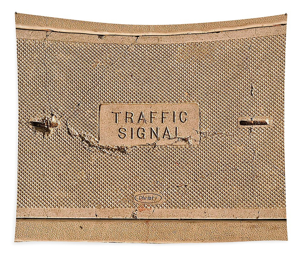 Traffic Sign Photographs Tapestry featuring the photograph Traffic Signal by Bill Owen