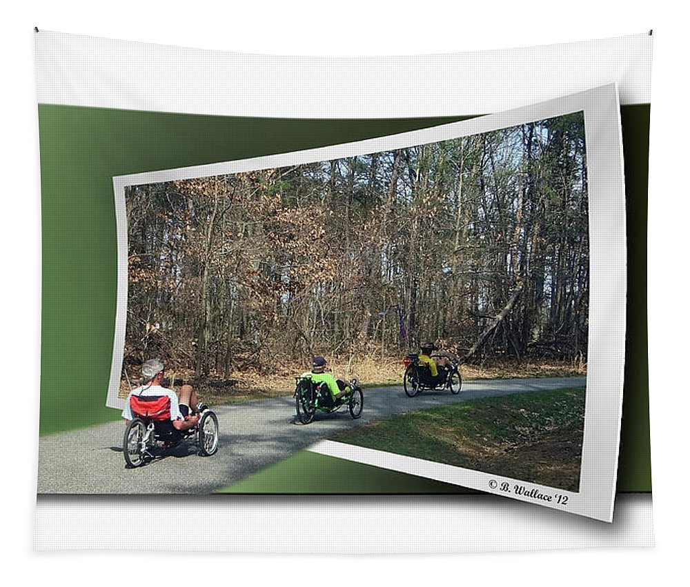 2d Tapestry featuring the photograph Trail Of Trikes by Brian Wallace