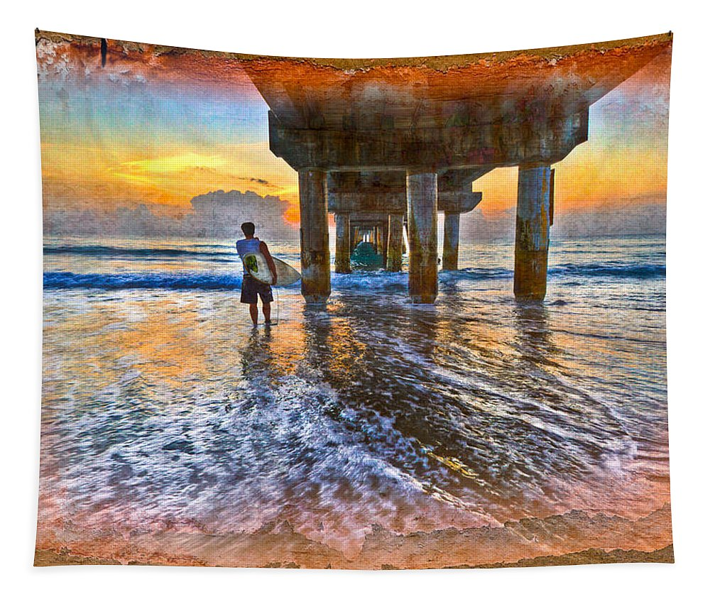 Delray Tapestry featuring the photograph Treasure Hunting by Debra and Dave Vanderlaan