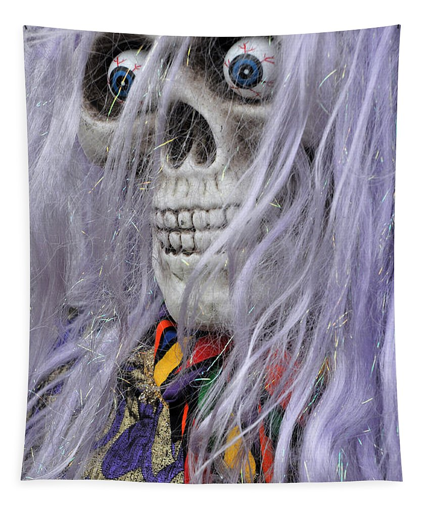 Scarecrow Tapestry featuring the photograph Trick Or Treat by Mike Martin