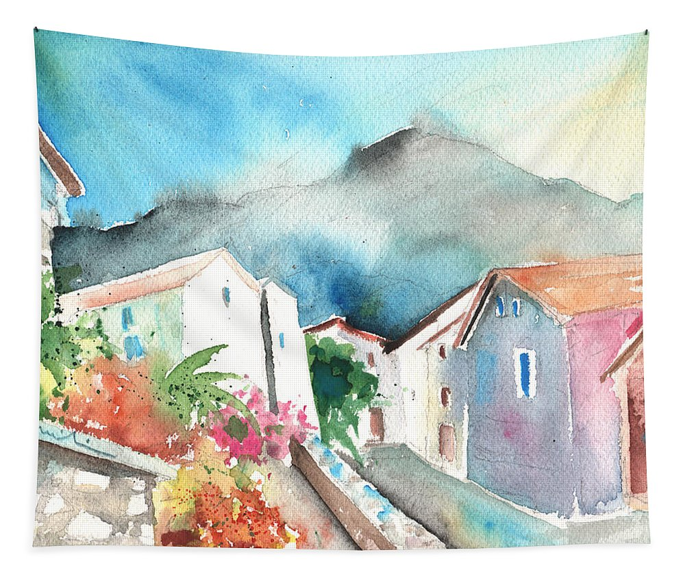 Travel Tapestry featuring the painting Ussat 01 by Miki De Goodaboom