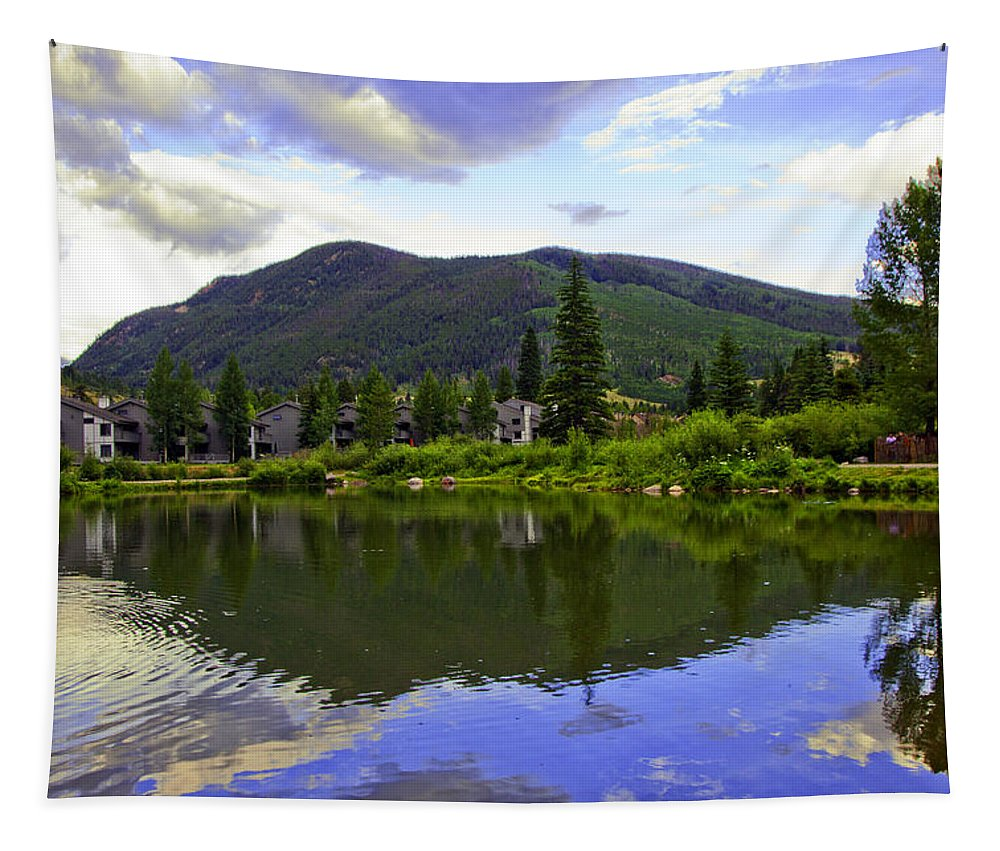 Vail Tapestry featuring the photograph Vail Reflections 6 by Madeline Ellis