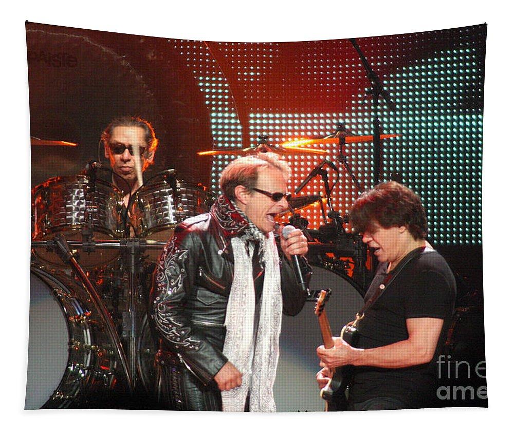 Van Halen Tapestry featuring the photograph Van Halen-7121 by Gary Gingrich Galleries