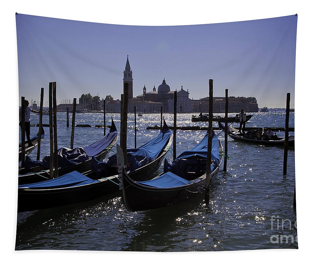 Venice Tapestry featuring the photograph Venice At Dusk by Madeline Ellis