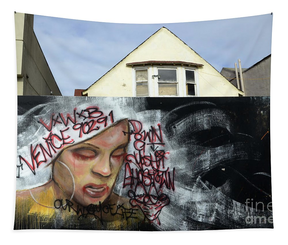 Wall Art Tapestry featuring the photograph Venice Beach Wall Art 5 by Bob Christopher