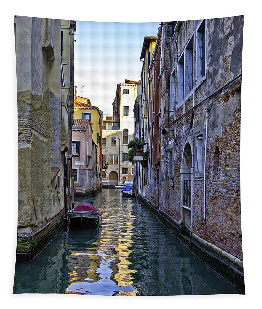 Canal Tapestry featuring the photograph Venice Canal by Madeline Ellis