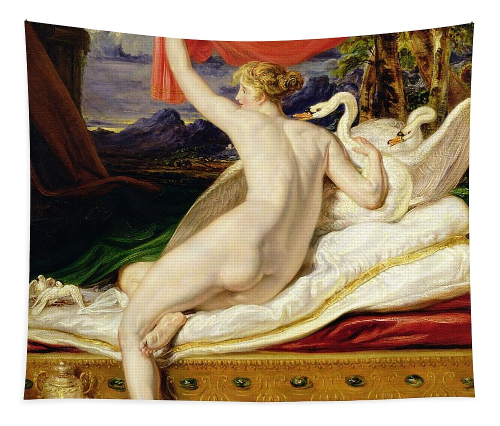 Venus Tapestry featuring the painting Venus Rising From Her Couch by James Ward