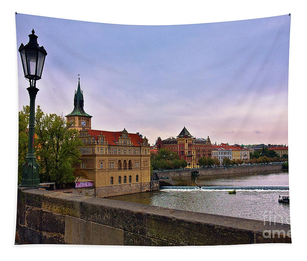 Charles Bridge Tapestry featuring the photograph View From The Charles Bridge Revisited by Madeline Ellis