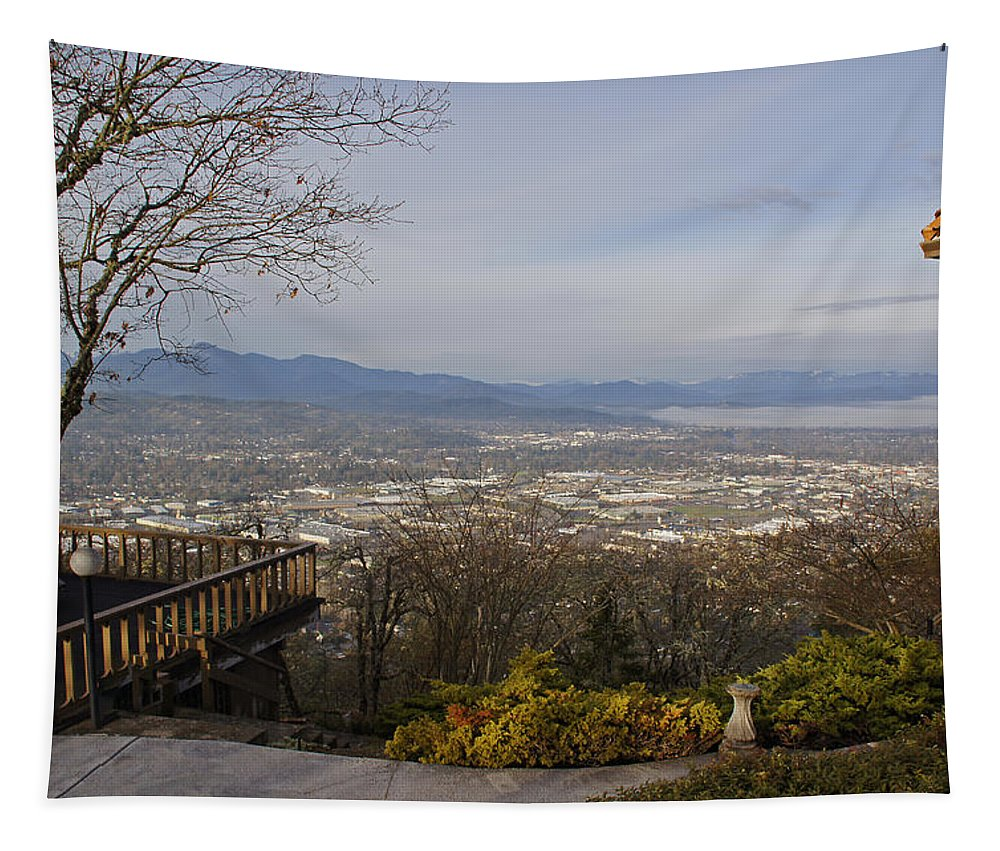 Grants Pass Tapestry featuring the photograph View From The Home On Top Of The Hill by Mick Anderson