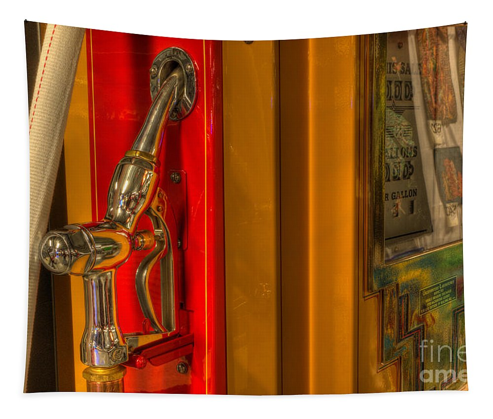Classic Gas Pumps Tapestry featuring the photograph Vintage Gas Pump Nozzle by Bob Christopher
