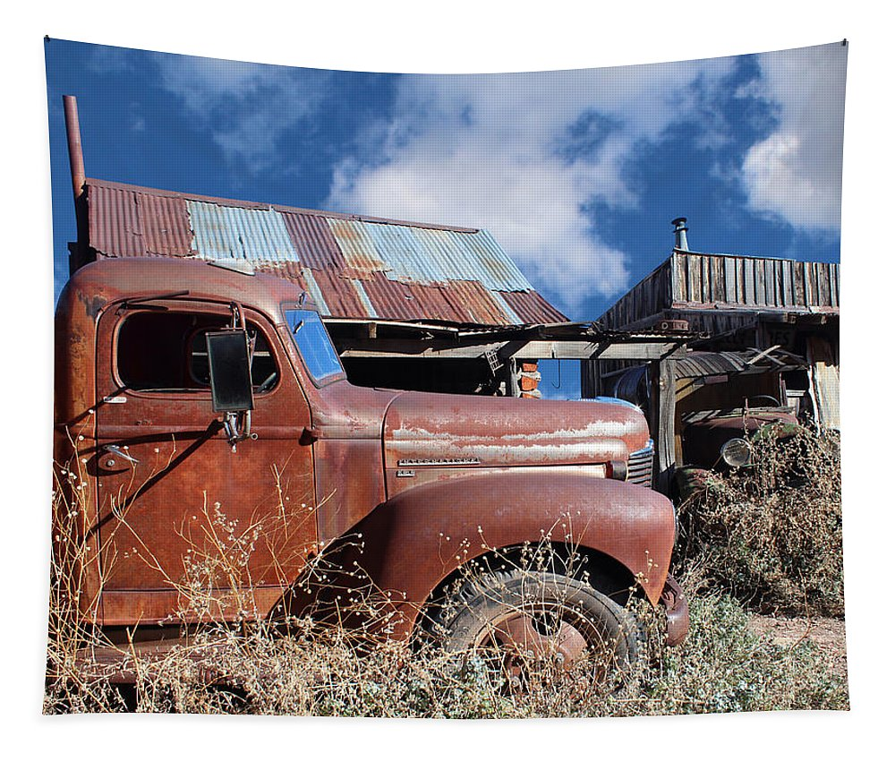 Kb5 Tapestry featuring the photograph Vintage Truck by Paul Fell