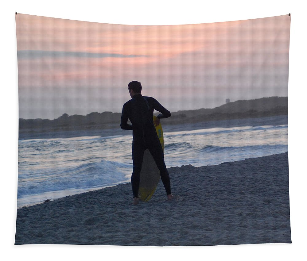 Surf Tapestry featuring the photograph Waiting For The Wave by Richard Bryce and Family