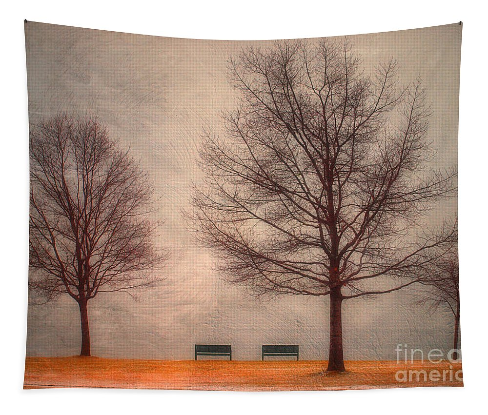 Texture Tapestry featuring the photograph Waiting For Winter by Tara Turner