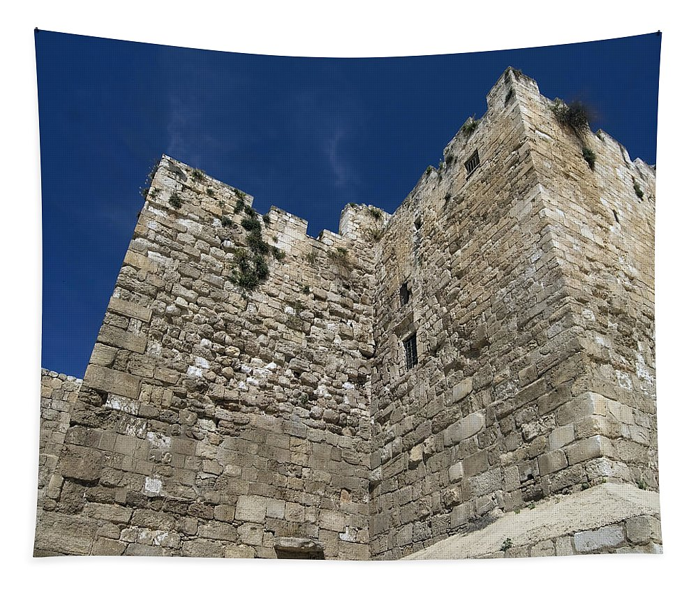 Architecture Tapestry featuring the photograph Walls Of Jerusalem by Mary Lane