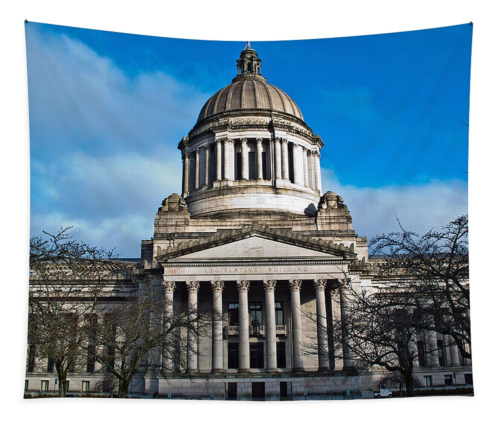 Capital Tapestry featuring the photograph Washington State Capital by Tikvah's Hope