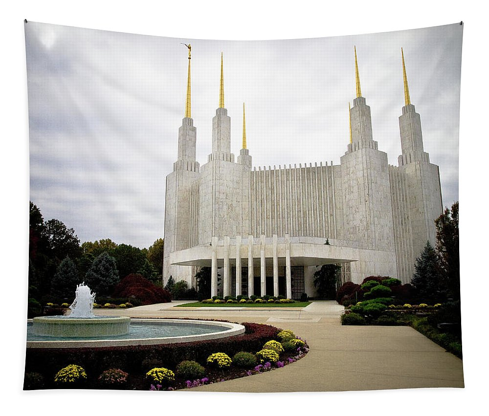 Temple Tapestry featuring the photograph Washington Temple by Craig Leaper