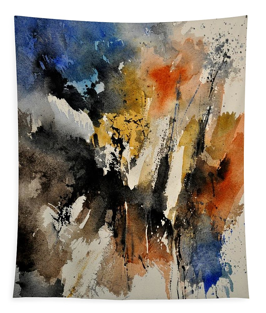 Abstract Tapestry featuring the painting Watercolor 211050 by Pol Ledent