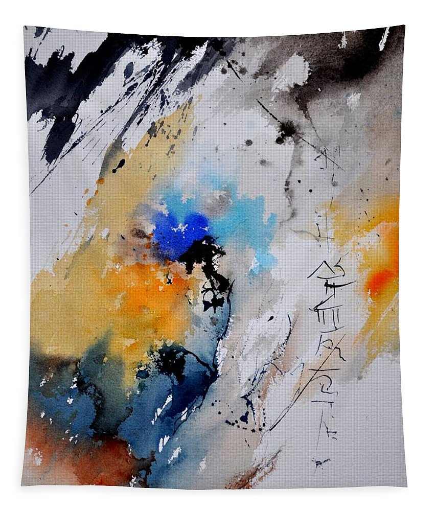 Abstract Tapestry featuring the painting Watercolor 216092 by Pol Ledent