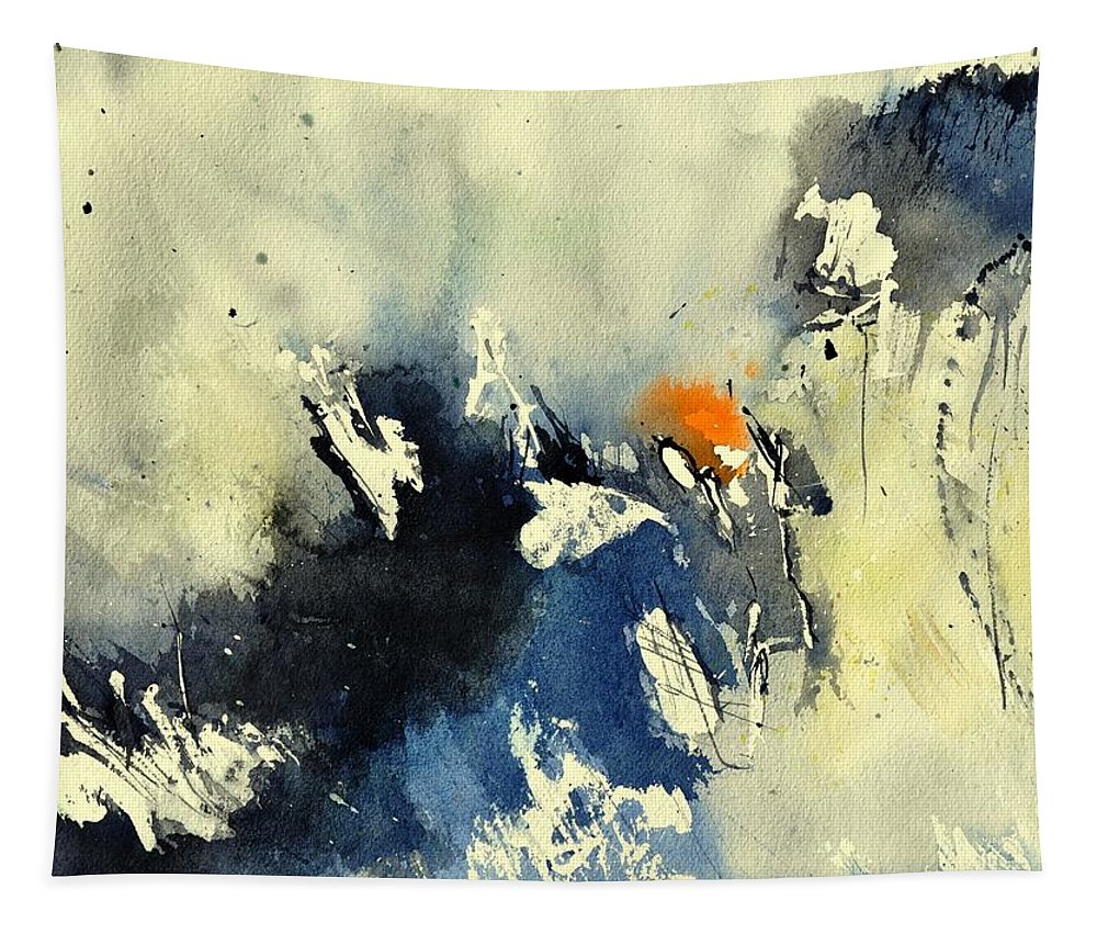 Abstract Tapestry featuring the painting Watercolor 218091 by Pol Ledent