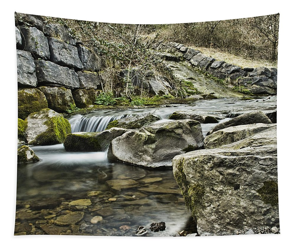 Waterfall Tapestry featuring the photograph Waterfall by Steve Purnell