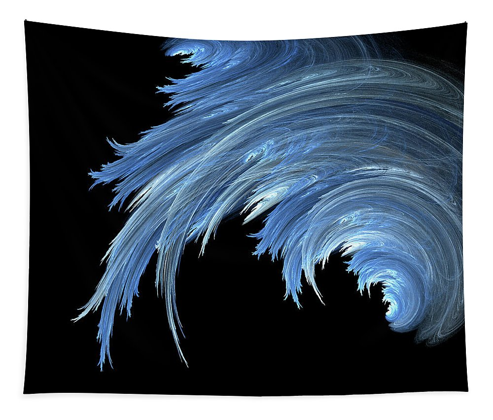 Art Tapestry featuring the digital art Waves by Mary Lane