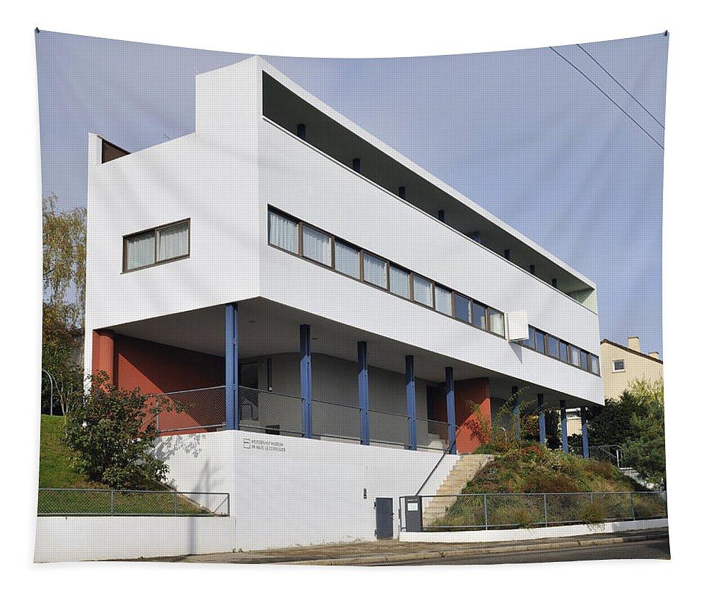 Le Corbusier Tapestry featuring the photograph Weissenhof Settlement - Le Corbusier Building by Matthias Hauser