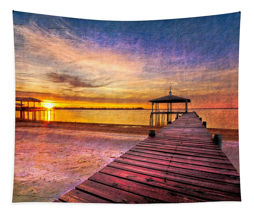 Clouds Tapestry featuring the photograph Welcome The Morning by Debra and Dave Vanderlaan