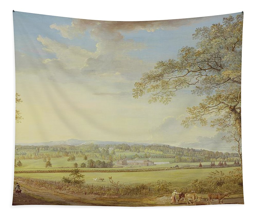 Whatman Tapestry featuring the painting Whatman Turkey Mill In Kent by Paul Sandby