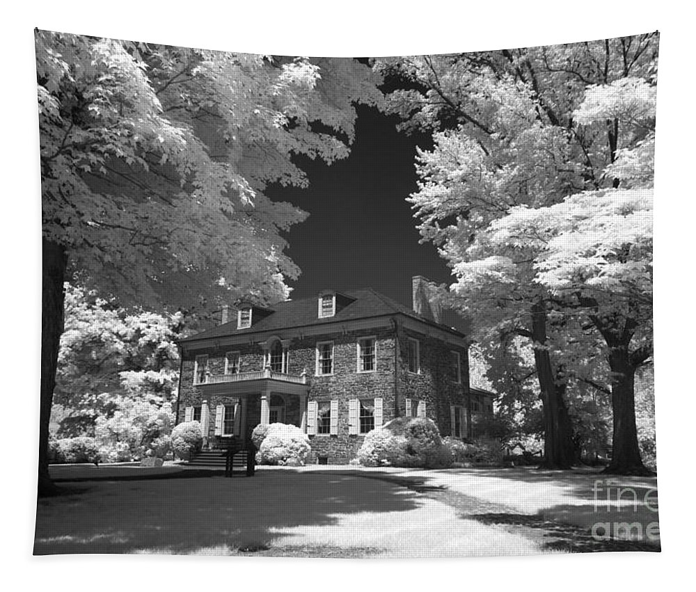 Infrared Tapestry featuring the photograph Wheatland - James Buchanan's Home by Paul W Faust - Impressions of Light