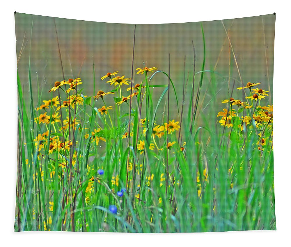 Wild Flowers Tapestry featuring the photograph Wild Flowers by Bill Cannon