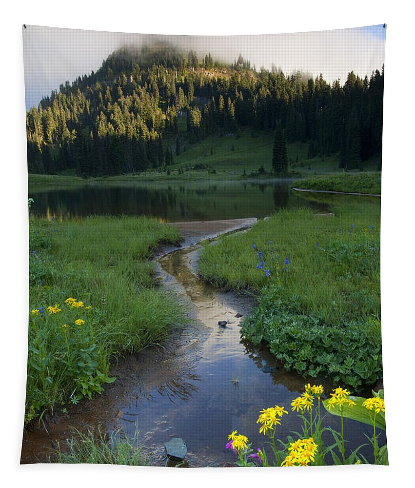 Yakima Tapestry featuring the photograph Wildflower Stream by Mike Dawson