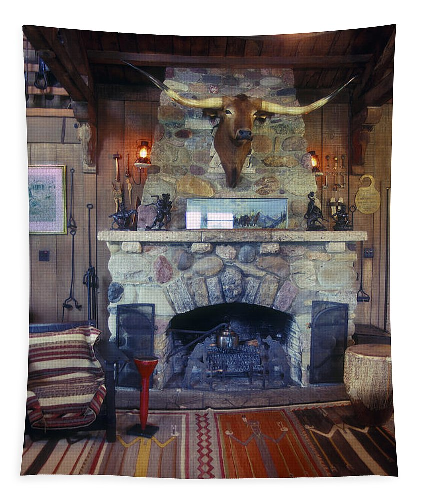 Will Rogers Tapestry featuring the photograph Will Rogers Home by Paul W Faust - Impressions of Light