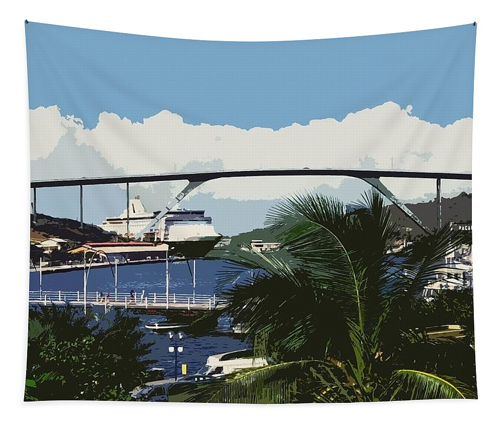 Karibik Carribean Tapestry featuring the photograph Willemstad - Curacao by Juergen Weiss