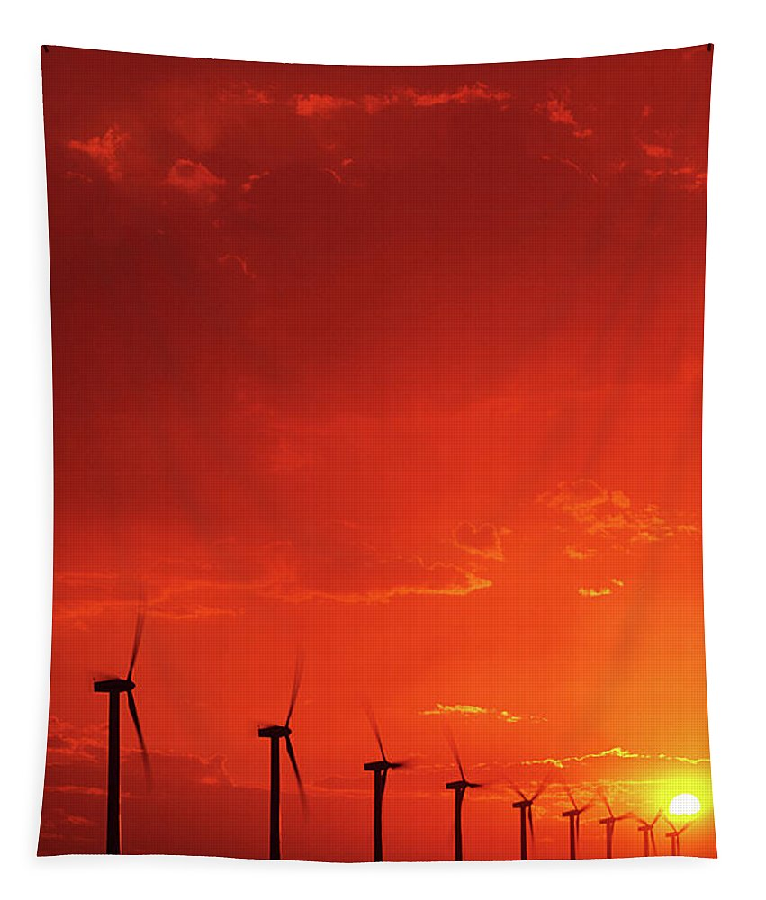 Wind Tapestry featuring the photograph Wind Turbines by Bob Christopher