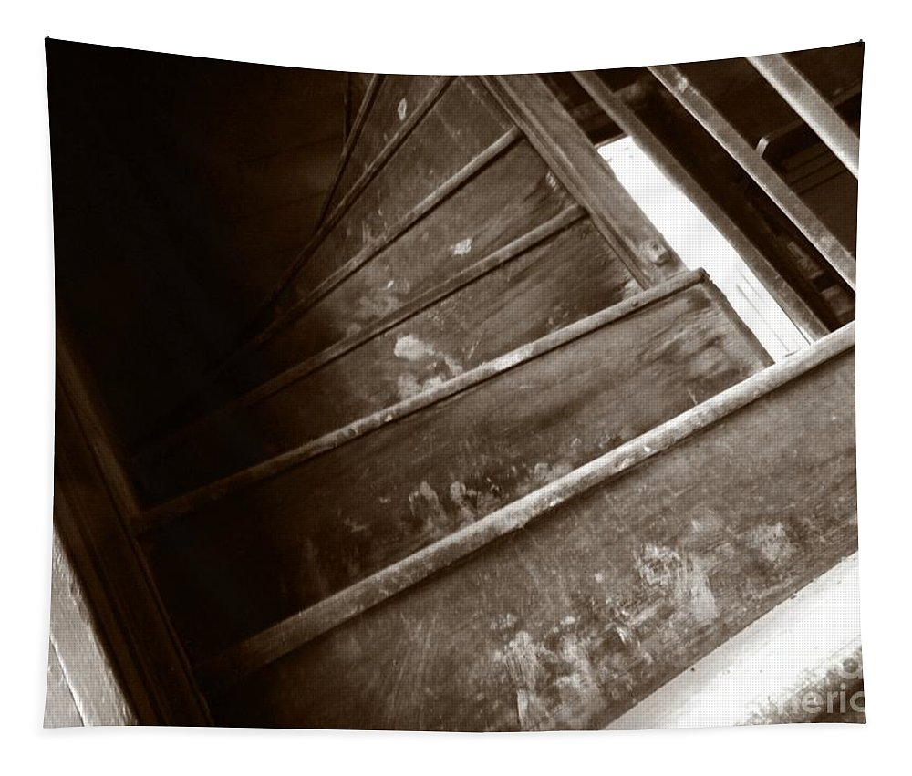 Sepia Tapestry featuring the photograph Winding Staircase by Charleen Treasures