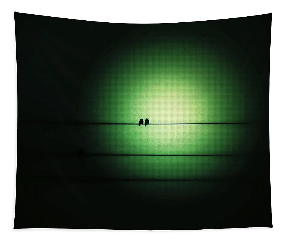 Emerald Tapestry featuring the photograph Within The Emerald Glow by Marianna Mills