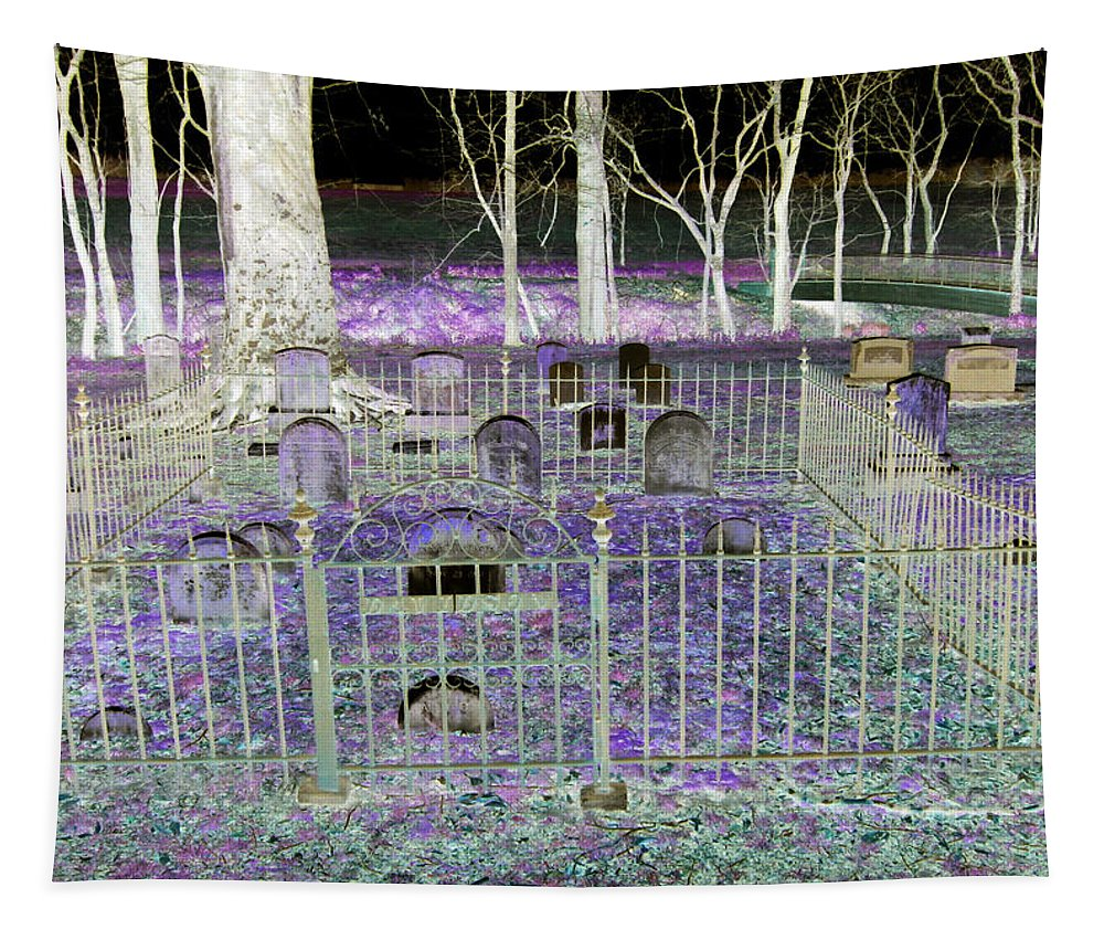 2d Tapestry featuring the photograph Wye Mills Cemetery by Brian Wallace
