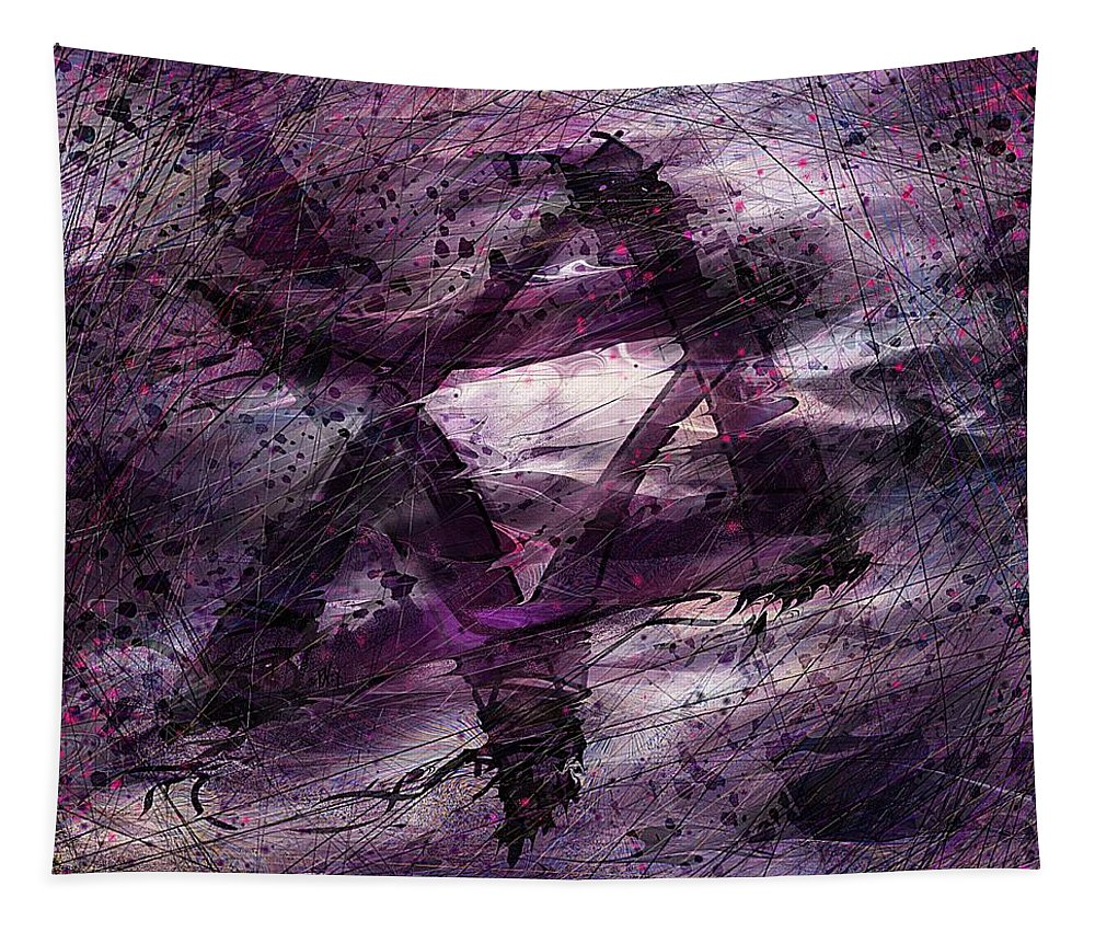 Abstract Tapestry featuring the digital art . . . when we remembered Zion by William Russell Nowicki