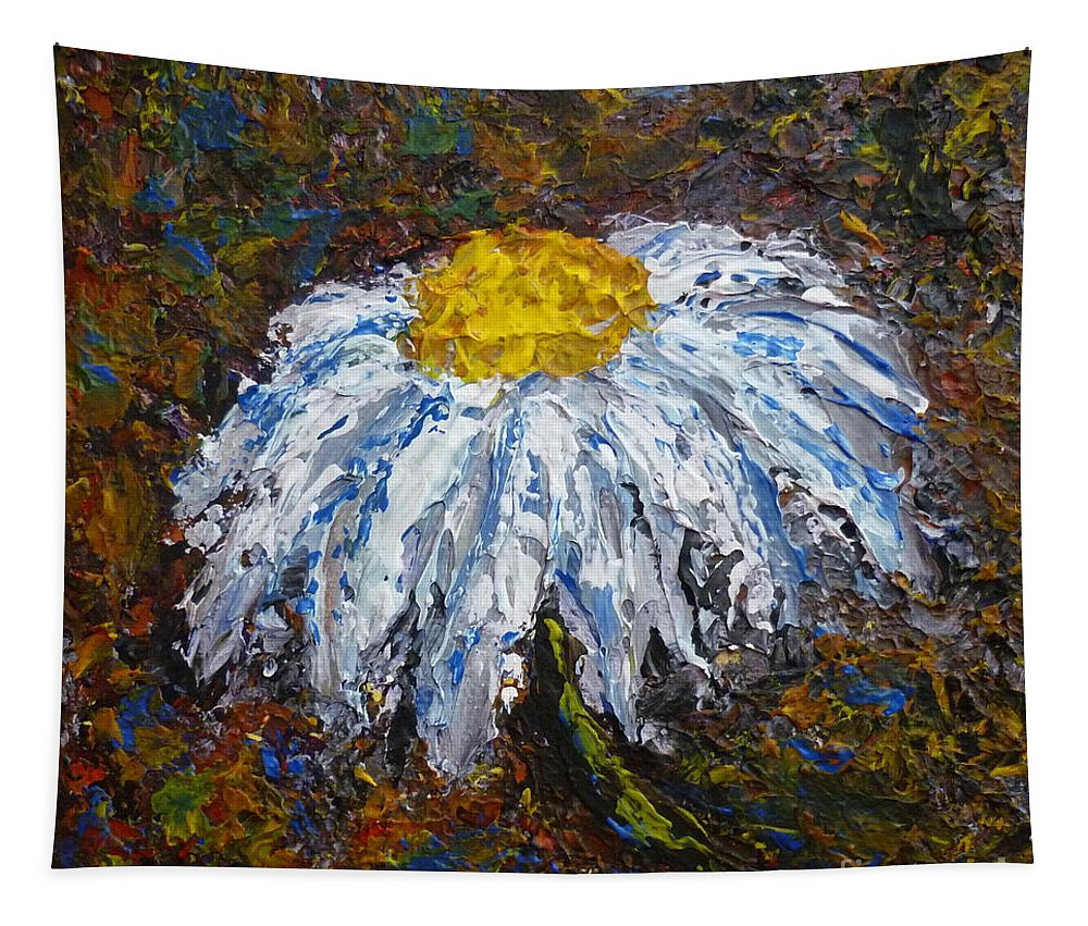 Daisy Tapestry featuring the painting Daisy by Andreea Moldovan