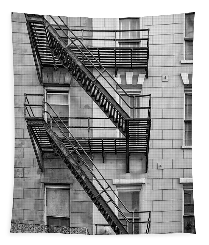 Fire Escape Tapestry featuring the photograph  Escape Plan - Nola by Kathleen K Parker