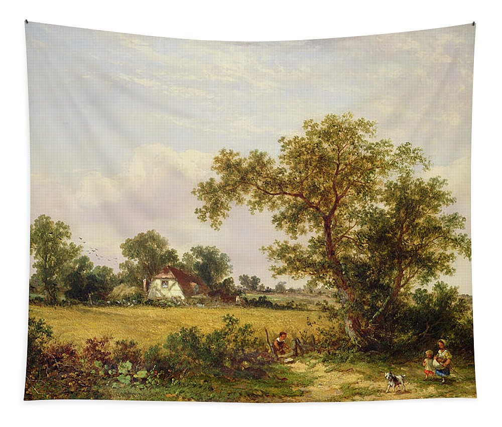Essex Tapestry featuring the painting Essex Landscape by James Edwin Meadows